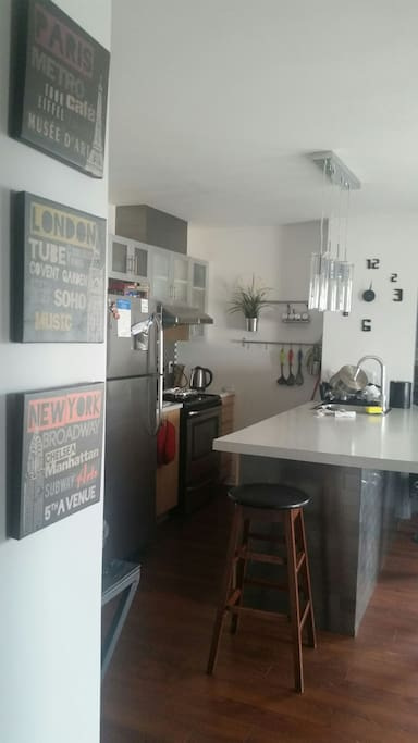 kitchen and all amenities