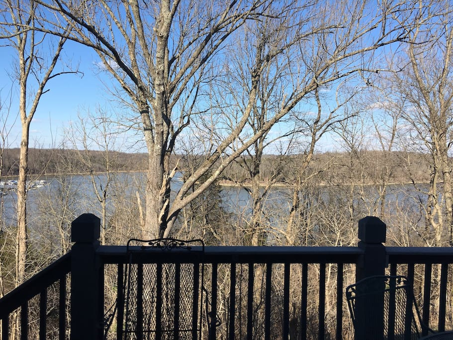 Lake view from rear deck. Just as beautiful in winter as in summer!