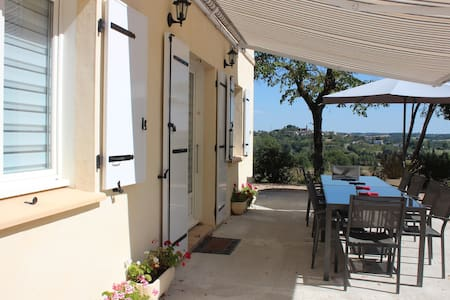 Gite 10 people. 3 stars panoramic view. - Monclar-de-Quercy - 独立屋