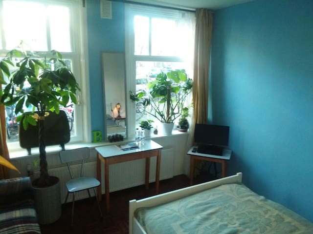 B&B room - green & bright!