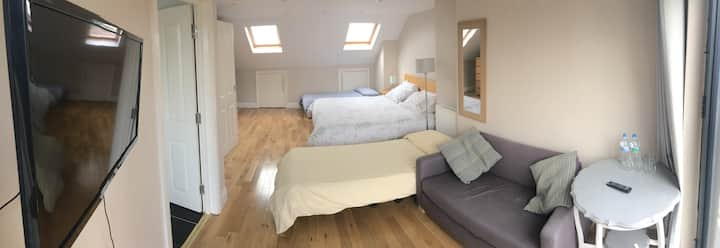 30sq mtr loft room with ensuite
