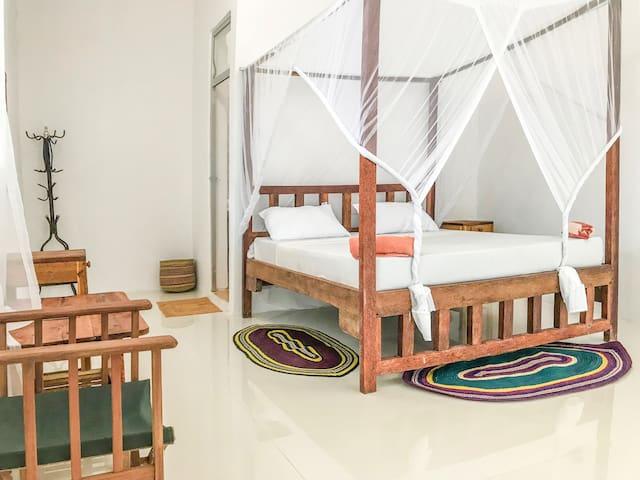 Nungwi Beach Studio E AC priv bath incl breakfast