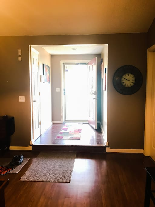 Front entry from living room