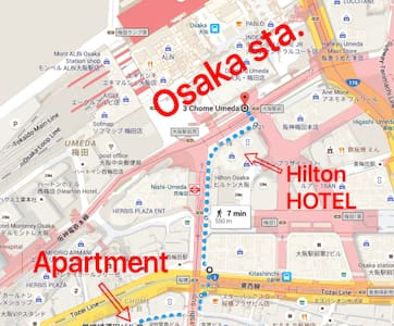 14. From Oosaka station, 7 minutes on foot. - Apartment