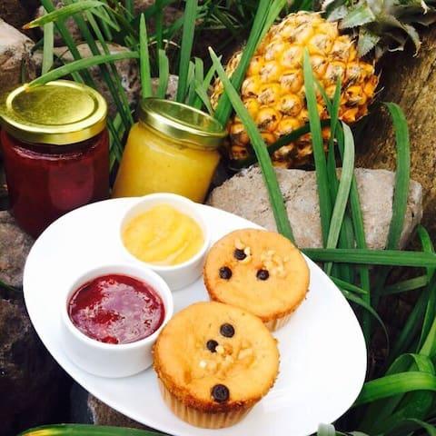 Home-made fruit jams made with love by Kadek!