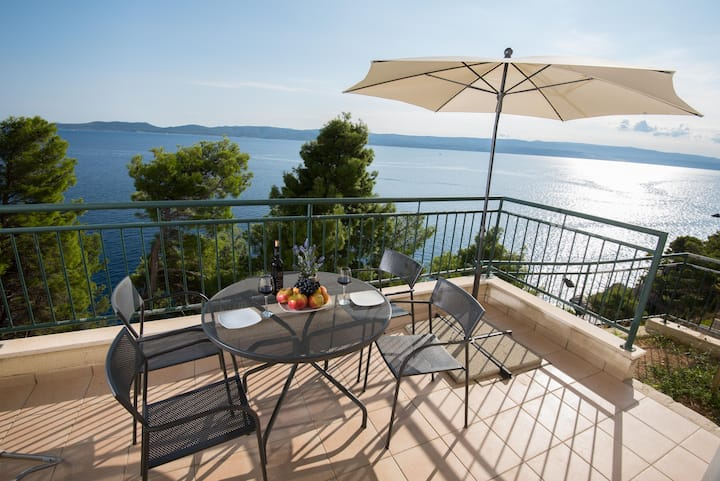 Seawiew apartment near Split with private beach