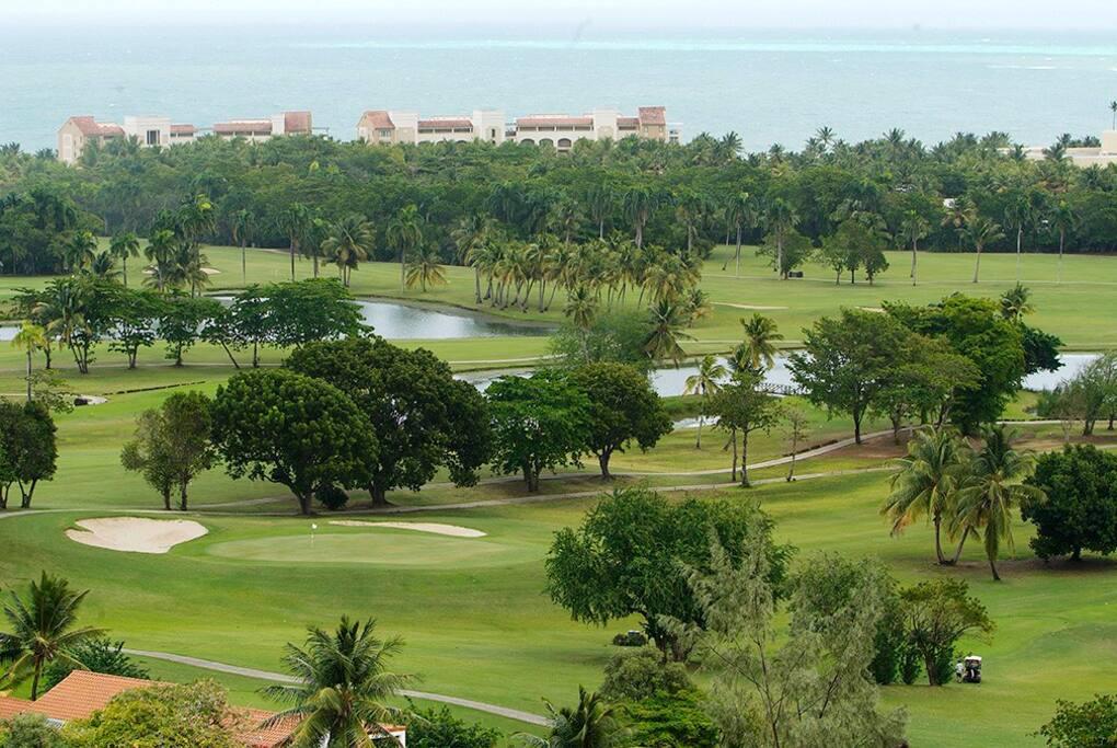 View Wyndham Grand Rio Mar Resort from balcony