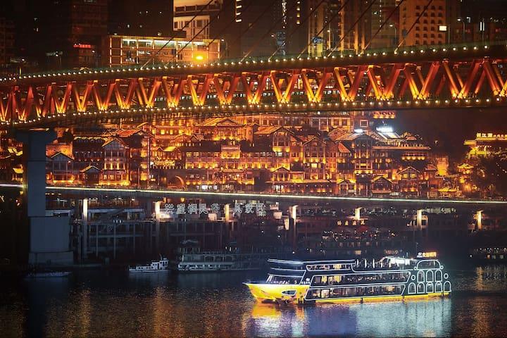 [坡坡~POP]嘉陵江畔艺术公寓#解放碑、洪崖洞一桥之隔#北滨路美食中心#游戏基地XBOX360#