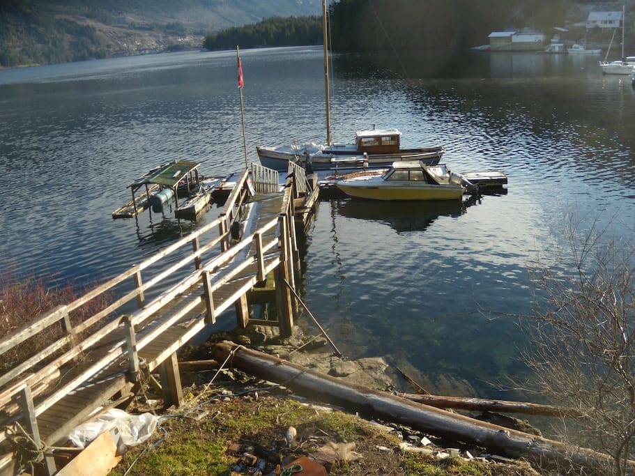 Private dock with moorage available