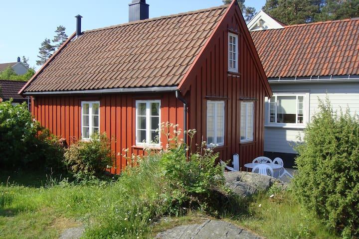 Justøya/Blindleia/Lillesand -Koselig hytte med Båt