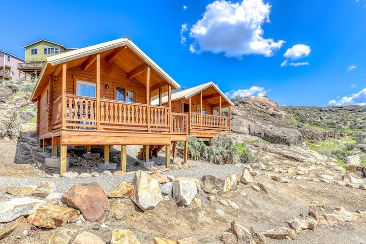 Adorable dry cabin w/ a private grill, lake access, & shared resort amenities