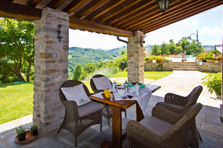 Scenic  Villa in Apecchio with Swimming Pool