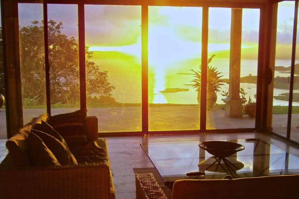 Sunset view from the lounge