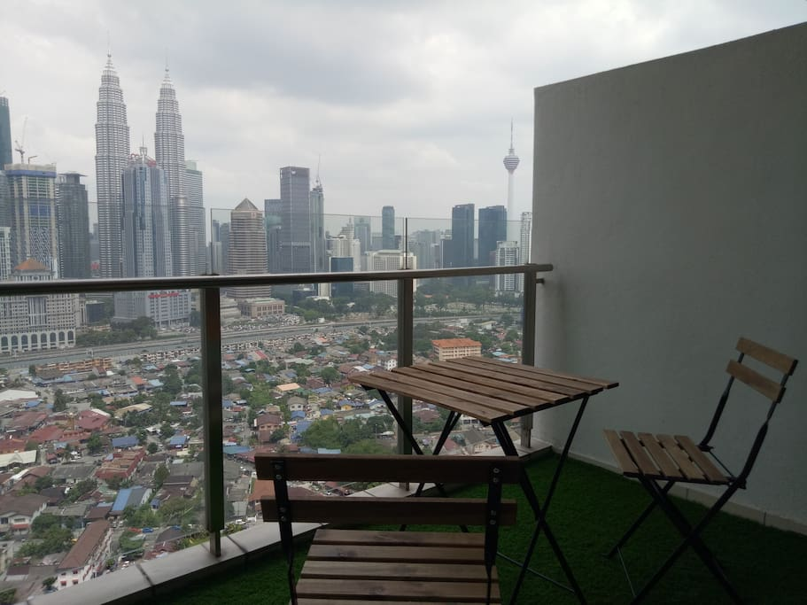Balcony with full KL city view