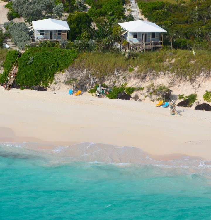Cayo Loco Pink Sand Beachfront 2 Houses/4 guests!
