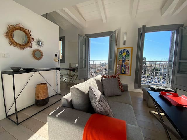 Superbe studio calme avec vue au centre de Vence