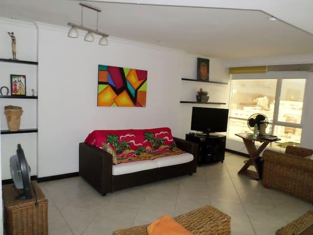 HERMOSO PENTHOUSE PARA SUS VACACIONES. - Santa Marta - Apartmen