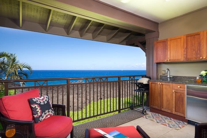 Halii Kai 13A. Ocean Front!  Includes Waikoloa Golf Membership Benefits