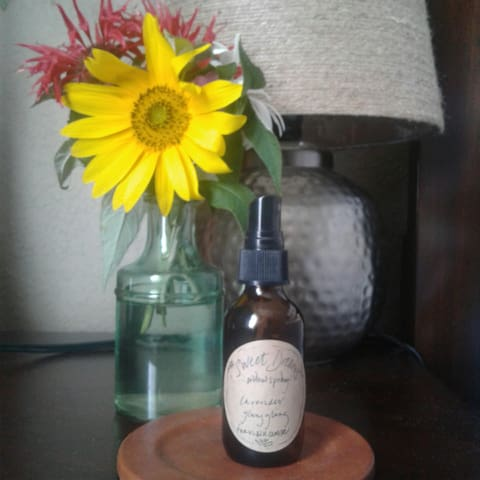 """Natural, homemade, chemical free """"Sweet Dreams"""" pillow spray."""