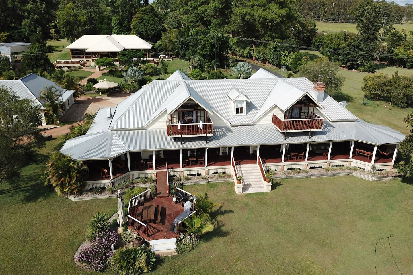 Aerial view of Clarence River B&B