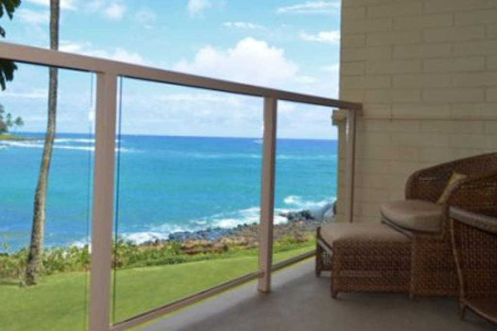 Watch the Beautiful View from the Lanai