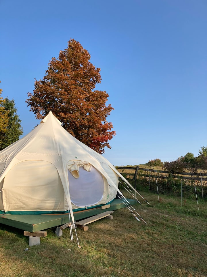 The Glamping Experience @ Happy Yogic Homestead!