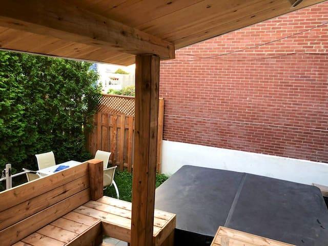 Chambre 1 - Maison en bois avec Jacuzzi extérieur