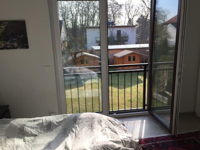 4 Zi.-Wohnung m Garten im Grünen/See, Nähe Berlin
