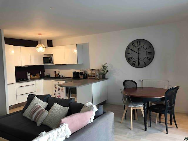 Appartement avec jardin centre ville rennes