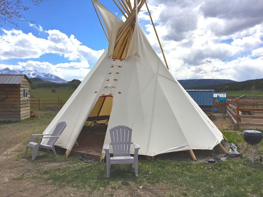 The CC Blue Ranch tipi