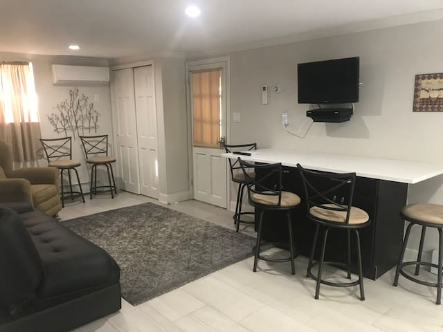 Modern private one bed room apartment.