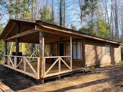 Agradable y cómoda cabaña en entorno natural