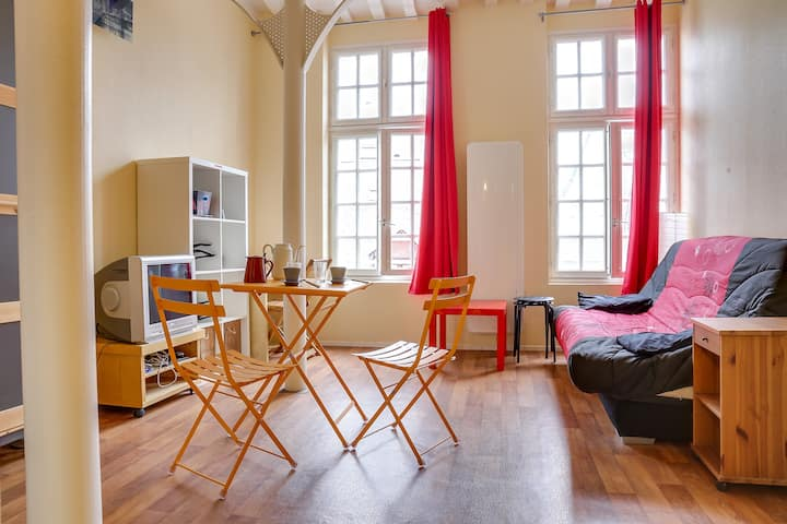 Studio a RENNES CENTRE SAINT ANNE WIFI 18 m2