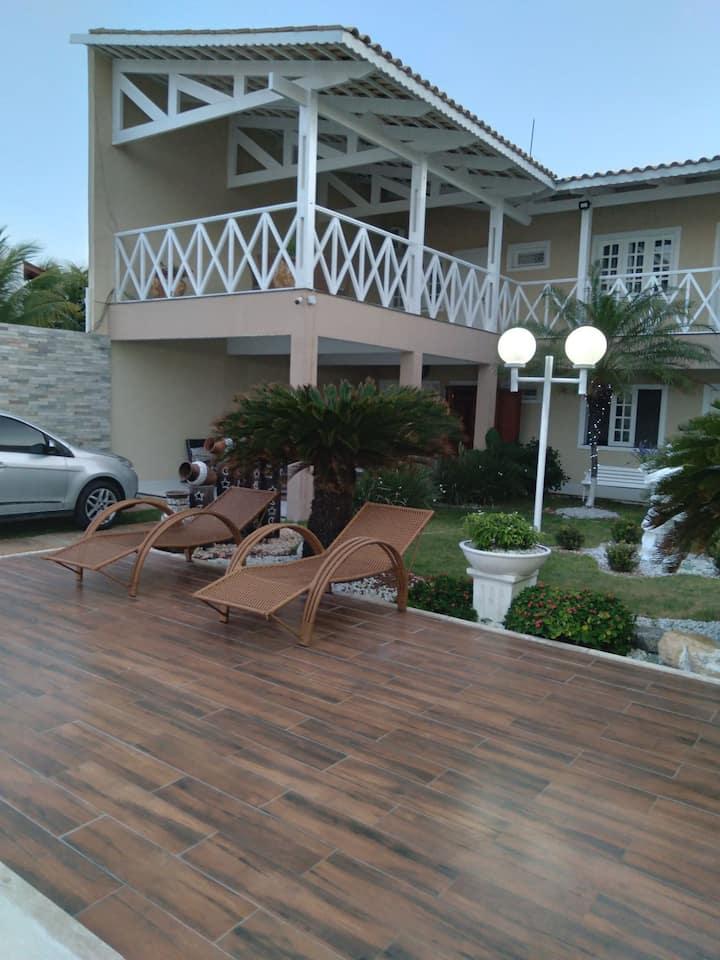 Acomodação, confortável casa na praia do presídio.