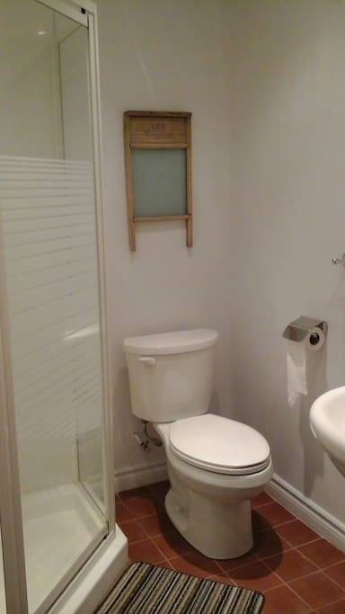 Here is the newly renovated bathroom