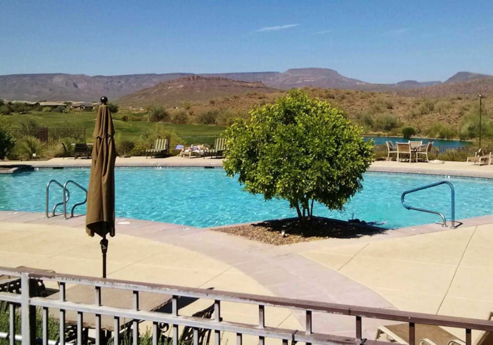 Enjoy two heated pools both within a couple minutes of your home