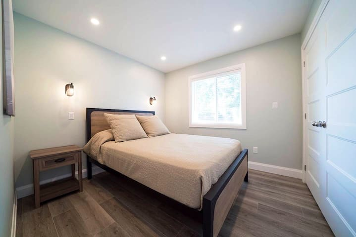 Two spacious bedrooms are off the loft each with a queen sized bed.