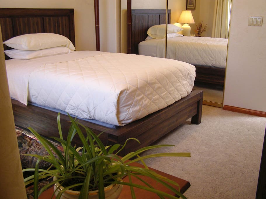 Full bed includes love seat, chest of drawers, night stand and closet space