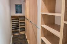 Master bedroom- massive built-in closet