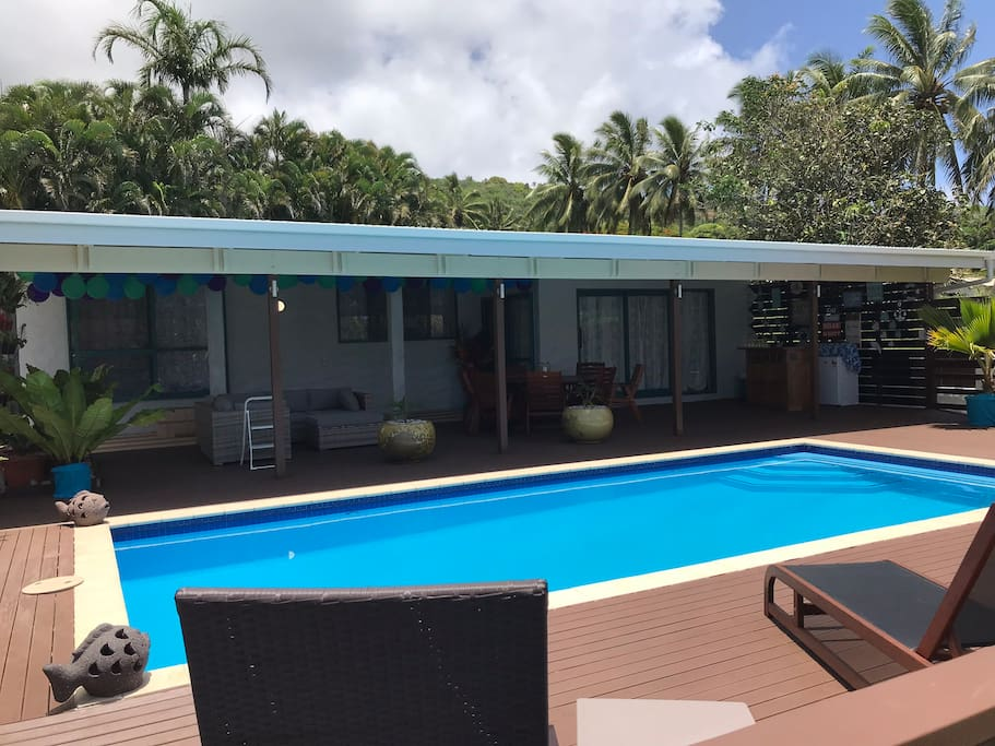 Sun Lounge Area and Pool