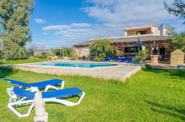 CAN TOLO POCAROBA - Villa with private pool in Campos. Free WiFi