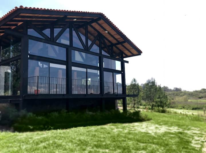 Cabaña de lujo En fraccionamiento Pinares Tapalpa