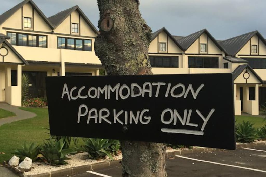 Accommodation parking outside your rooms