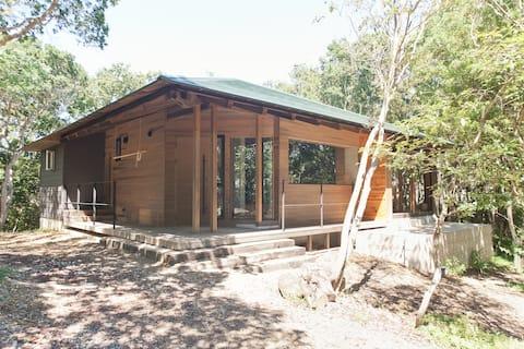 自然の中の一軒家の個室