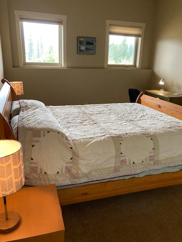 Large bedroom with desk/office space