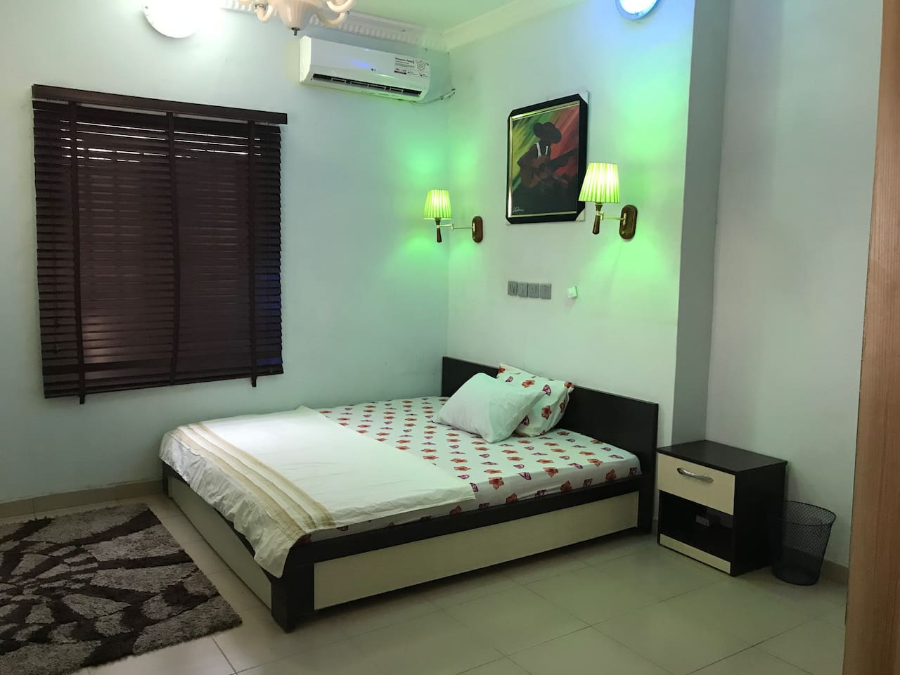Bed room with 3 colors of mood light