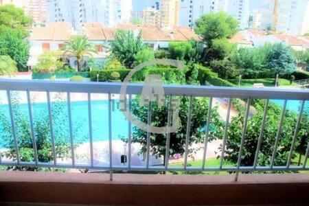 Apartamento en Gandia playa con piscina y terraza - Grau i Platja