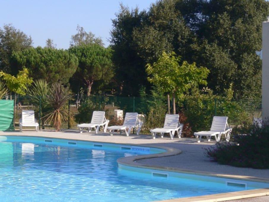 La piscine est réservée à la résidence, un moment convivial sans trop de monde