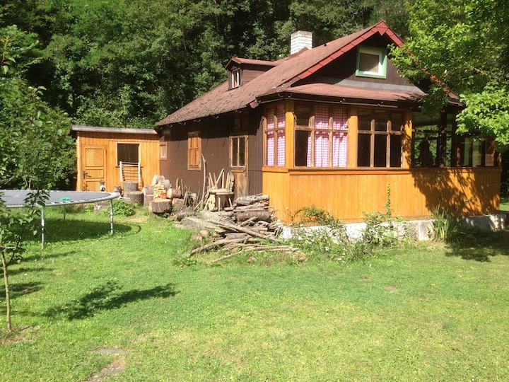 Romantická chata Slapy