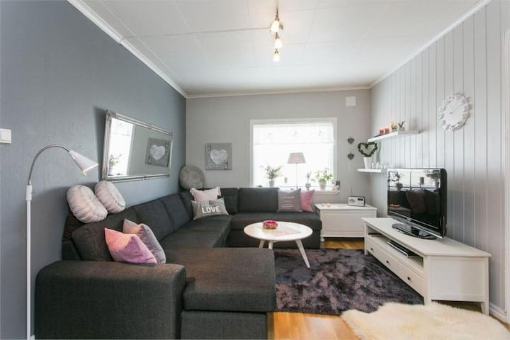 A warm and beautiful 2 bedroom apartment (76 sqm) - Skien - Apartament